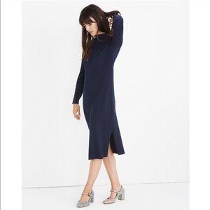 MADEWELL • mockneck midi sweater dress